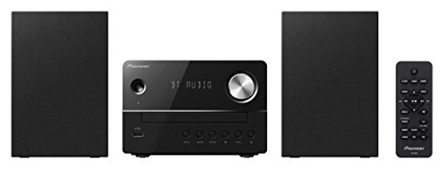 Pioneer X-EM26(B) Micro HiFi Anlage, (CD, MP3/WMA, FM Radio, 2 x 5 W Ausgangsleistung, Lautsprecher, Bluetooth, Musik streamen vom Smartphone, USB/Audio in, kompaktes Design), Schwarz