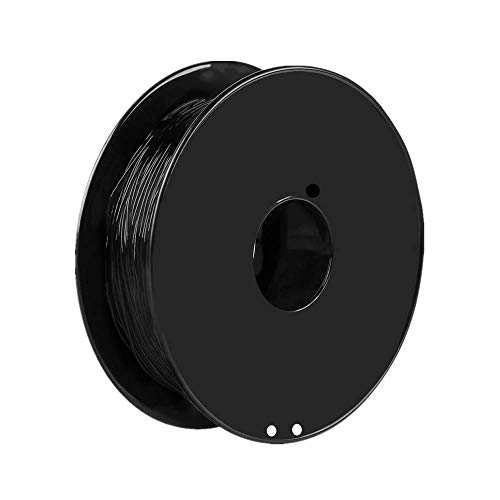 BigcaseTech 0.8KG Spool TPU Filament,95A TPU 3D Printer Filament,1.75mm, Flexible Soft Filament, Dimensional Accuracy +/- 0.03 mm, 100% Virgin Raw Material, Factory Direct Sale (Black TPU)