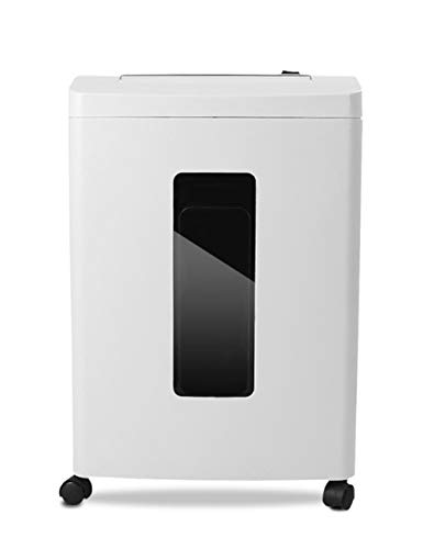 Electric Shredder,Electric Shredder Strip Cut Shredding Card Document Large 16 Litre Bin Machine Home Office 10-Minute Heavy Duty Continuous Run Time