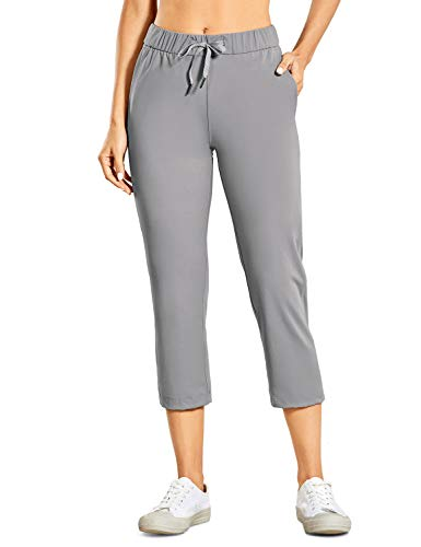 CRZ YOGA Women's On The Travel Mid Rise Capri Joggers Stretch Casual Pants Crop with...