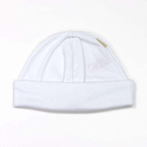 Cambrass Trikotmütze aus Baumwolle, für Neugeborene, Weiß