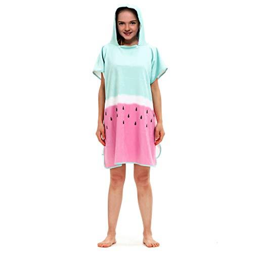 FRAUIT-kinderen baby meisjes T-shirt 3D print capuchon badjas badjas strandlaken regenboog strepen