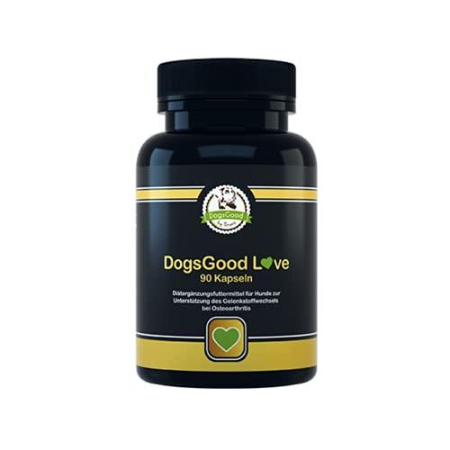 DogsGood Gelenktabletten für Hunde - Hilft bei Arthrose ihres Hundes, mit Grünlippmuschel, MSM, Teufelskralle, Glucosamin und Ingwer - 90 Kapseln Gelenk- & Knochenschutz für Hunde