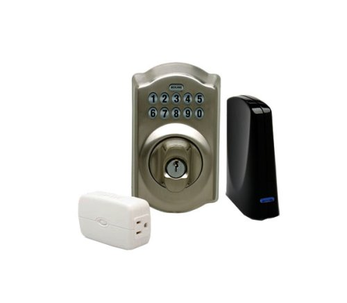 Schlage Link Wireless Keypad Deadbolt Starter Kit System, Satin Nickel