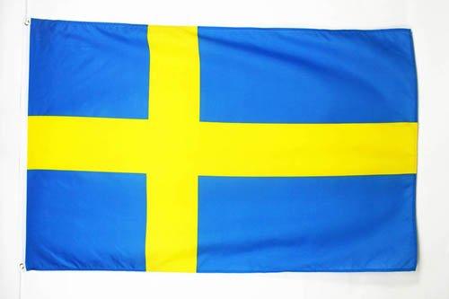 AZ FLAG Flagge SCHWEDEN 150x90cm - SCHWEDISCHE Fahne 90 x 150 cm feiner Polyester - flaggen