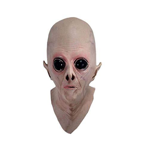 Halloween maschera di Halloween maschera aliena copricapo UFO coperchio testa mascherina di tema di film di fantascienza cos accessori for la casa dell'orrore Gomma di fantasma maschera Tricks partito