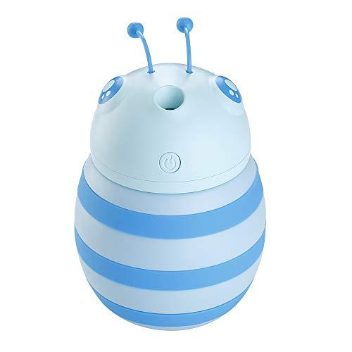 SODIAL Creativo Humidificador de Abeja Difusor de Aceite Esencial LáMpara de Incienso Luz Nocturna Led Aromaterapia USB Ambientador de Aire de Coche Aromaterapia Difusor-Azul
