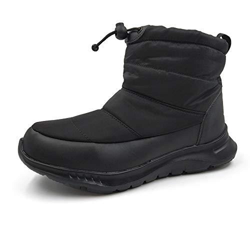[アモジ] メンズ スノーシューズ レディース スノーブーツ ブーツ ショートブーツ 冬用 スニーカー 秋 撥水 防寒 冬 あったか ボア モコモコ ファー 暖かい すのーぶーつ すのー めんず YF801 黒 ブラック/ブラック 29.0cm