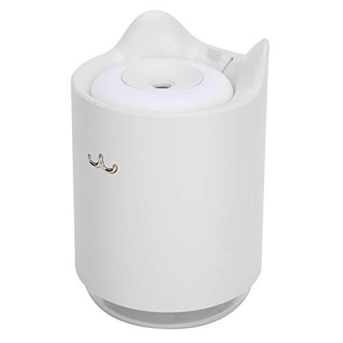 N#A Mini humidificador, humidificador de Aire, Lindo con Luces de Colores Forma de Gato Carga USB Conducción para Dormir Estudiar el Trabajo(White)