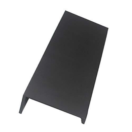 FLAMEER Möbelgriffe Schubladengriffe Kommodengriff Metall Küche Schublade Tür Schränke Pull Griff - Schwarz, 80mm