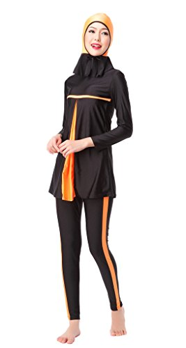GladThink Dames-mulimische Burkini 3-delige badpak badmode