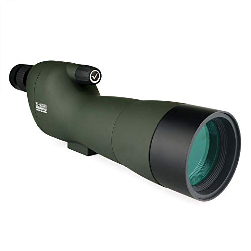 Best Price! Straight Spotting Scope with 20X-60X Zoom, 60MM HD Large Caliber Waterproof,Fully Multi-...