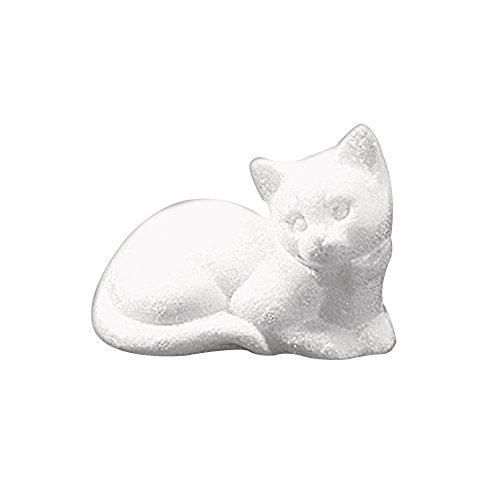 Rayher 3322100 Styropor-Katze, liegend, 14 cm