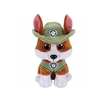 Linrunzi Paw Patrol Tracker Plush Toy Cartoon Cute Dogs Plushies Stuffed Animals Dolls Birthday Gifts for Children Boys and Girls 15cm