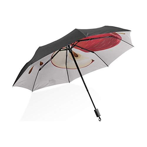 Umgekehrter Regenschirm für Kinder Farbiger Wachsmalstift Umriss Tragbarer kompakter zusammenklappbarer Regenschirm Anti-UV-Schutz Winddichter Outdoor-Reise-Frauenschirm Umgekehrter Regenschirm