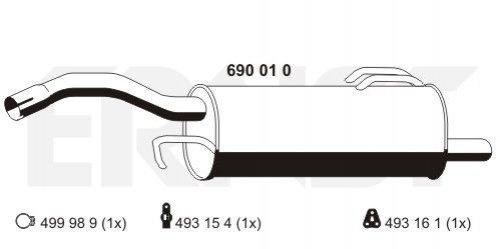 ERNST 690010 Endschalldämpfer