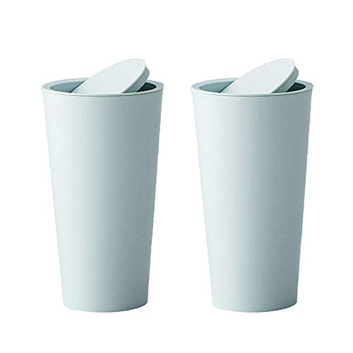 2 PCS Car Rubbish Bin with Lid Water Resistant Auto Trash can Portable Car Accessories for Car Cup Holder Garbage and Litter Storage Home Office Desktop (Blue)