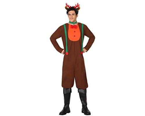 Atosa-26959 Disfraz Reno Hombre Adulto-Talla, Color marrón, M-L (26959)