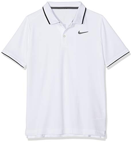 Nike Jungen Court Dry Team Poloshirt, White/Black, XS