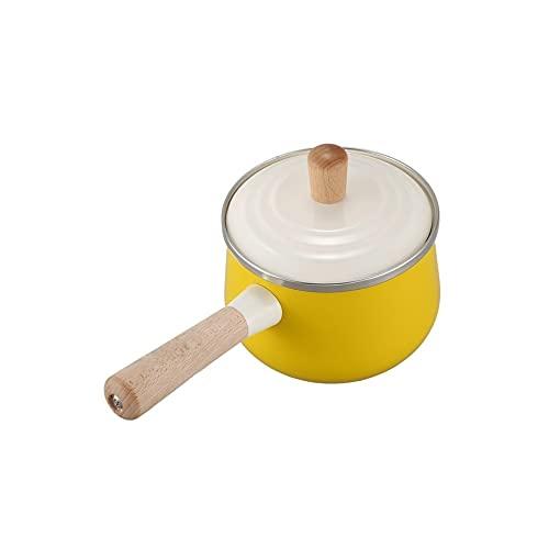 ZZABC GGZHFYP Porcellana Latte pentola di Smalto Hot Pot pentole Antiaderente minestra pentola con Coperchio Piano Cottura a induzione Fornello a Gas Stoviglie Giallo