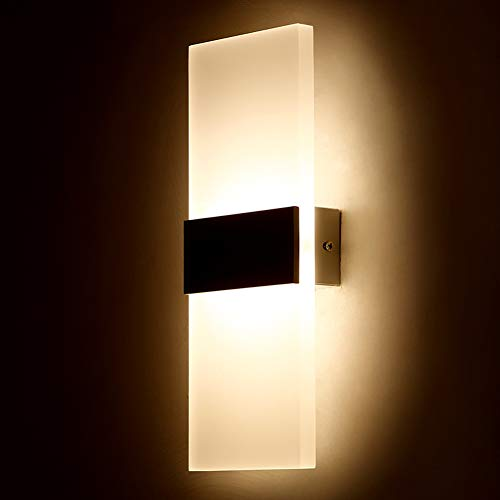 CLX Outdoor LED Wandleuchte Mit Bewegungsmelder Und Dämmerungsschalter Stahl Außenleuchte Edelstahl Leuchte,Warmwhite