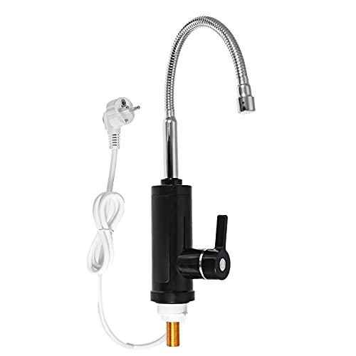 Juego de ducha 220 V, grifo eléctrico instantáneo para calentador, 3000 W, flexible, baño, cocina, grifo calefactor, 3 segundos, instantáneo, sin tanque, eléctrico, calentador de agua, grifo con pant