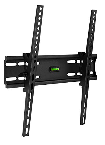 Mount-It! Tilt TV Wall Mount Bracket Up to VESA 400x400 | Low-Profile Tilting Mounting Bracket Compatible with 32 to 55 Inch Flat Screen TVs, 77 Lbs Capacity