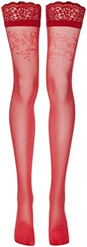 Fiore Damen SIMONA/GOLDEN LINE CLASSIC Halterlose Strümpfe, 30 DEN, Rot (Red 024), Medium (Herstellergröße:3)