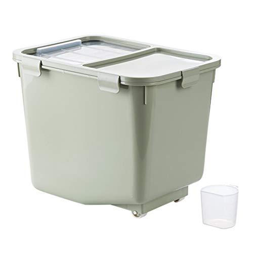 Box Aufbewahrungsbox FüR KüChe VorratsbehäLter FüR Lebensmittel Haushalts-Kunststoff-Riemenrad SchäDlingsfest FeuchtigkeitsbestäNdig Kann Mit 10kg Belastet Werden - Ausgestattet Mit Messbecher +