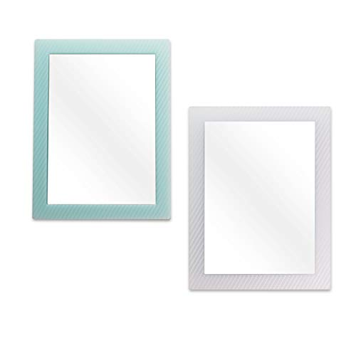 2 Pack Magnetic Locker Mirror for School Locker Refrigerator Office Cabinet 63x 48 Locker Accessories Rectangular Mirror for Girls and Boys Soft Mint and White