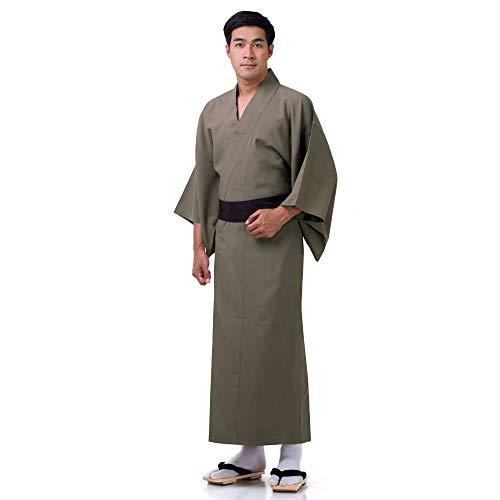 Princess of Asia Japanischer Herren Yukata Kimono Baumwolle M L XL Braun