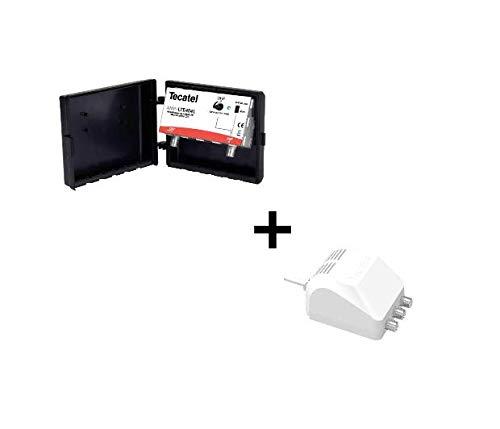 Kit de Amplificador de mástil AMP-LTE404F y FA-MAX24160 para UHF