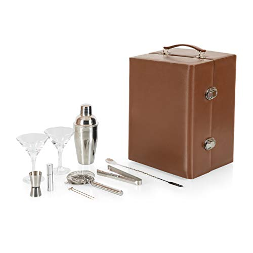 Legacy - a Picnic Time Brand Manhattan Cocktail Travel Set with Bar Tools, Mahogany