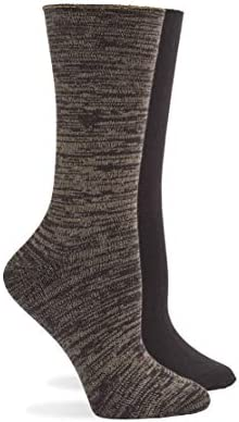 HUE Super Soft Roll Top Boot Sock 2 Pair Pack Espresso One Size product image
