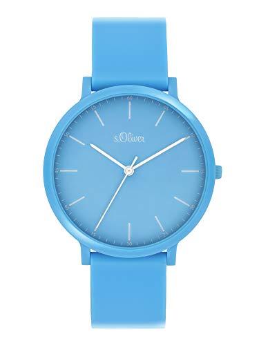s.Oliver Unisex Analog Quarz Uhr mit Silicone Armband SO-4071-PQ