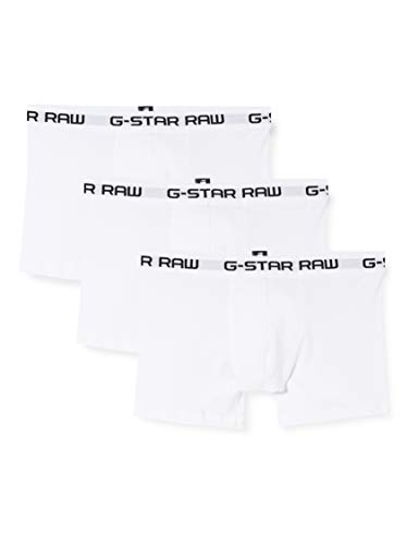 G-STAR RAW Herren Classic Trunk Boxershorts, Weiß (White/White/White), Large (3er Pack)