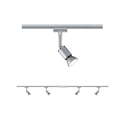 Paulmann 96896 URail Schienensystem Set Pure max. 4x10 Watt Lichtschiene matt, Chrom Deckenlampe Metall, Kunststoff Deckenschiene GU10