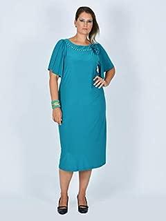 Nidya Moda Kadın Çiçek Broşlu Sandy Abiye Elbise