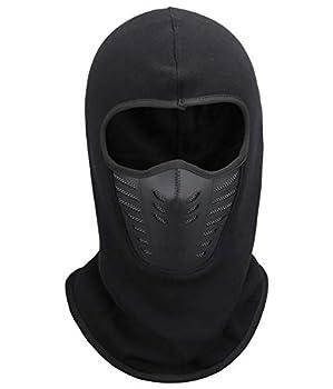 Fantastic Zone Balaclava Face Mask Winter Fleece Windproof Ski Mask for Men and Women,Black,One Size