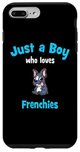 iPhone 7 Plus/8 Plus French Bulldog Boys Black Phone Case