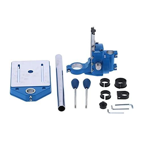 Ladieshow Soporte de reparación de taladro eléctrico, prensas de taladro de sobremesa multifuncionales, máquina de perforación ajustable, banco de trabajo fijo de 80 mm