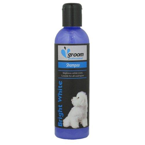Groom Profesional - Champú para Perros de Pelo Blanco Brillante, 250 ml
