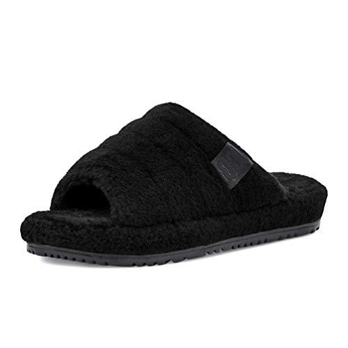 UGG Men's Slipper, Black TNL Fluff, 9 UK