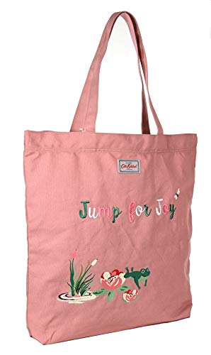Cath Kidston Einkaufstasche aus Baumwolle mit Frosch-Motiv, Vintage-Pink