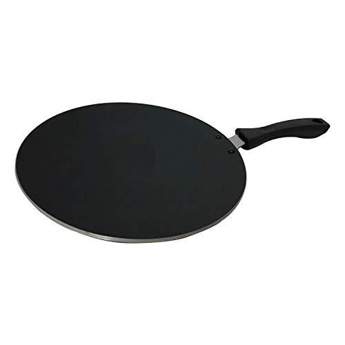 YADNESH Hartanodisiertes konkaves Tava-Bratpfannen-Tawa-Kochgerät Kochgeschirr Küche Tava Roti Chapati Fladenbrot-Kuchen Chapati Roti Maker Antihaft-Fladen-Tawa Ideal für Roti/Chapati/Paratha