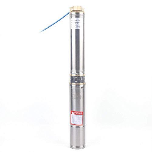 Tiefbrunnenpumpe Brunnenpumpe 550-1100W MAX 10800 L/h Tauchpumpe Edestahl Brunnenpumpen sandverträglich (750W-6000 L/h)