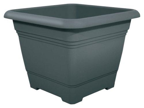 Pflanzkübel NORA quadratisch aus Kunststoff, Farbe:anthrazit;Größe:40 x 40 cm