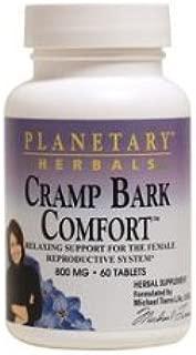 Planetary Herbals Cramp Bark Comfort Tablets, 60 Count