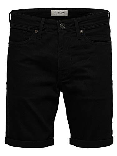 SELECTED HOMME Herren Jeansshorts Superstretch XXLBlack Denim