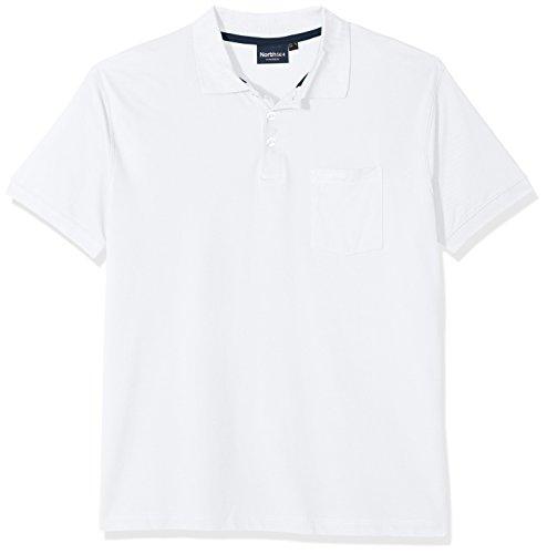 North 56-4 99011 Polo, Blanc (0000), XXL Homme